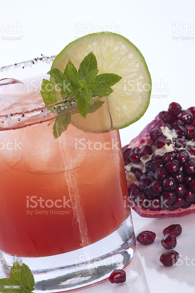 Pomegranate Mojito - Most popular cocktails series royalty-free stock photo