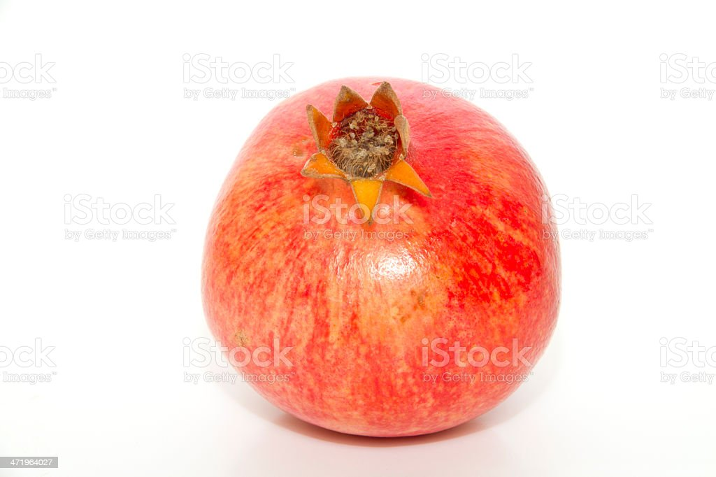 pomegranate; object on a white background royalty-free stock photo