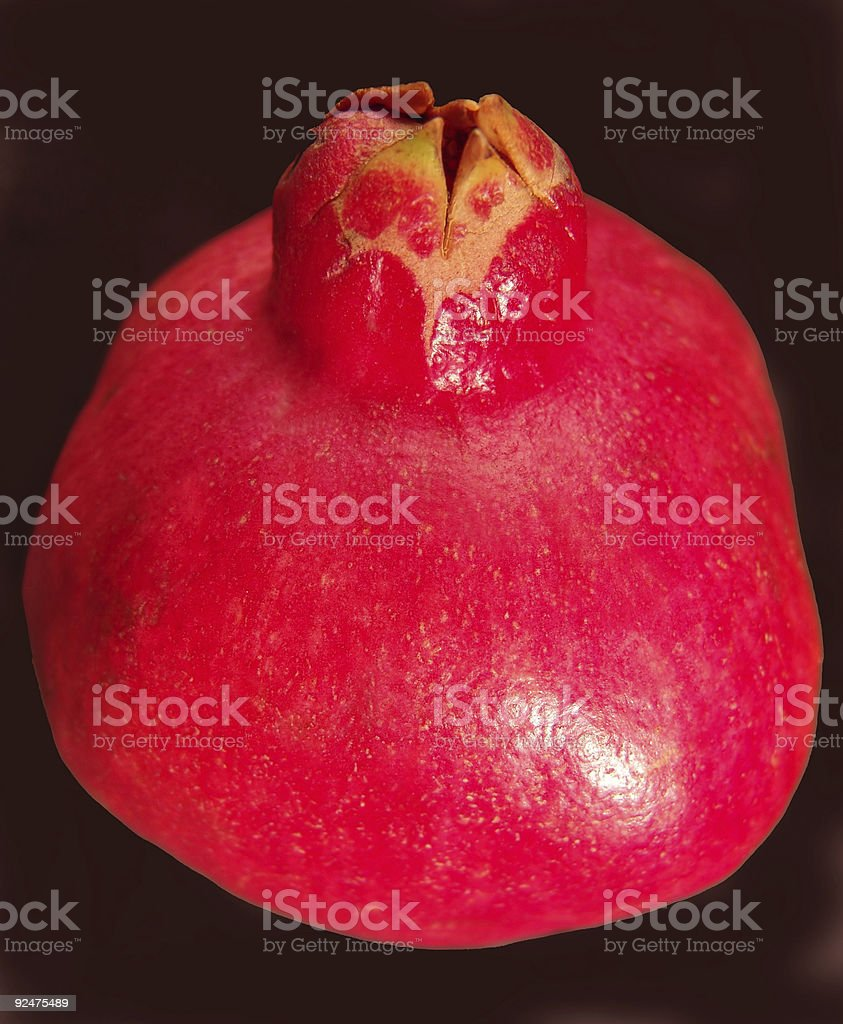 Pomegranate on black royalty-free stock photo