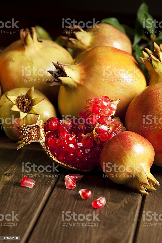 Pomegranate stock photo
