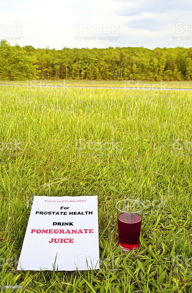 Pomegranate Prostate Health Notice royalty-free stock photo