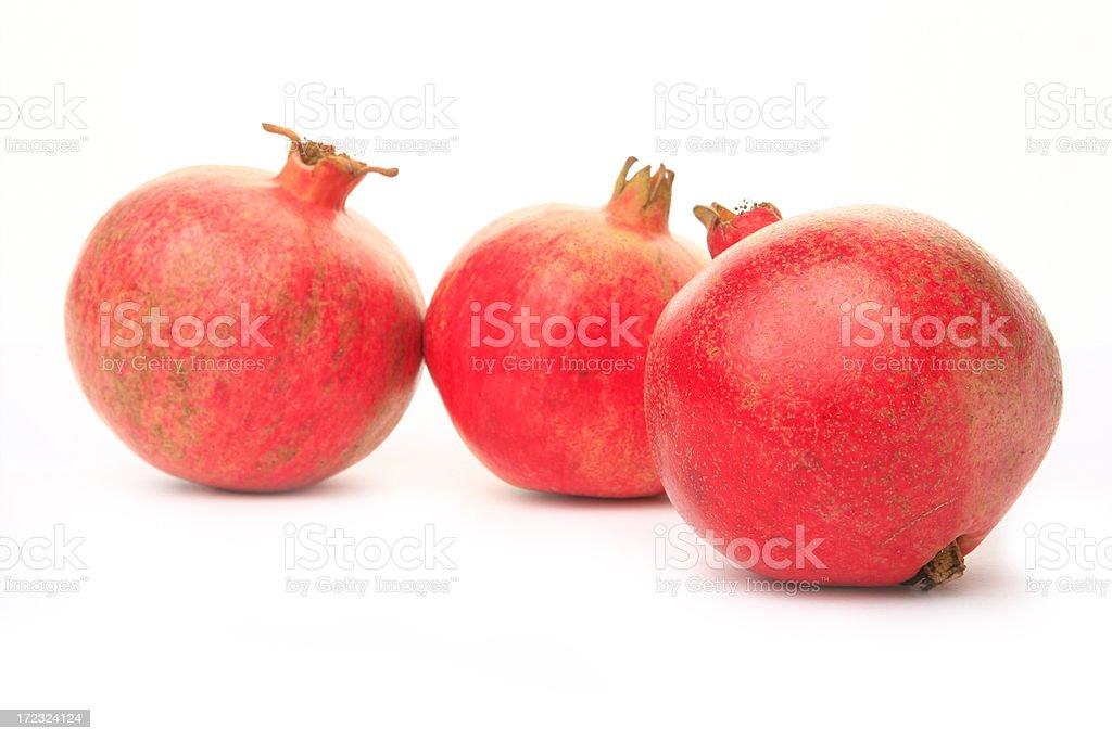 pomegranate studio shot stock photo