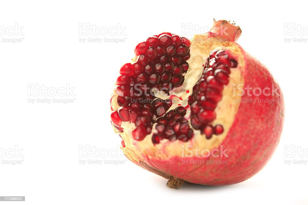 pomegranate studio shot royalty-free stock photo