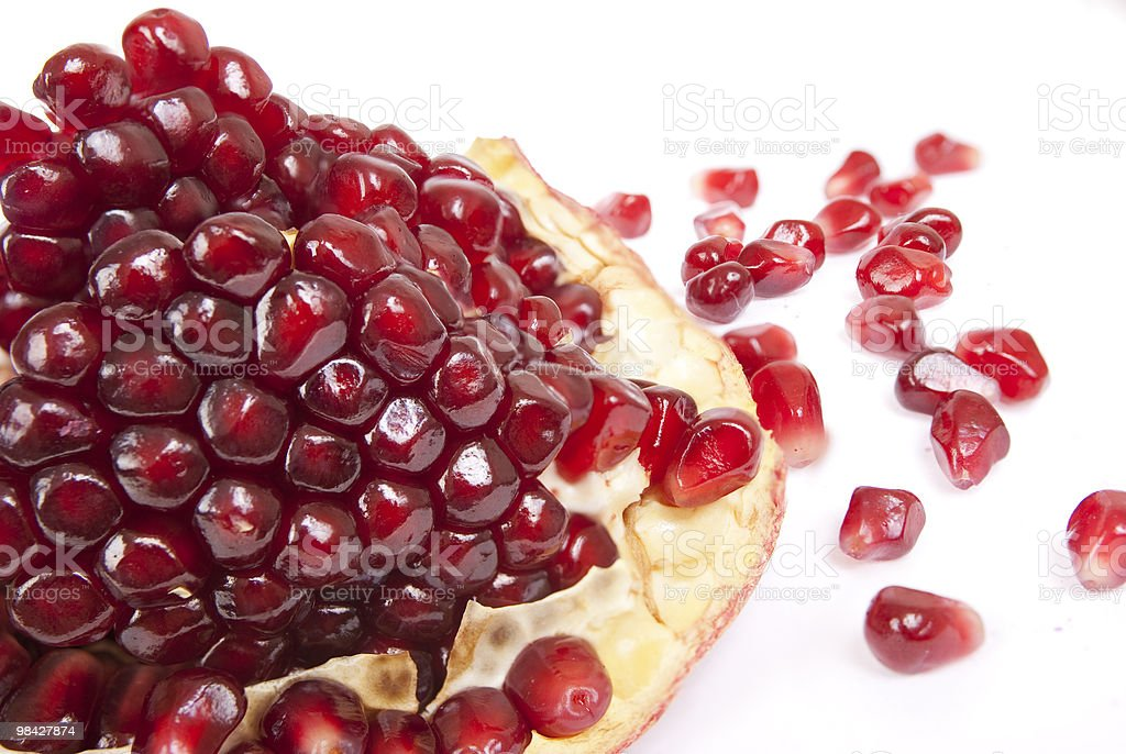 Pomegranate with slice royalty-free stock photo