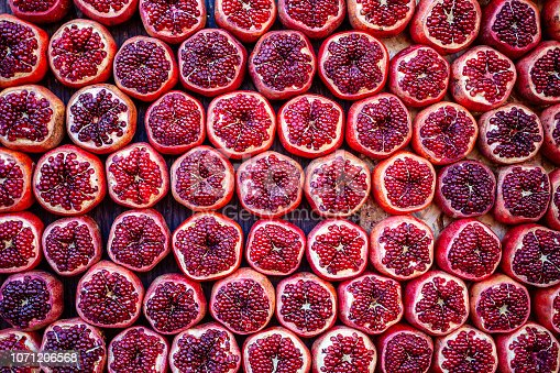 Pomegranates at Carmel Market in Tel Aviv, Israel