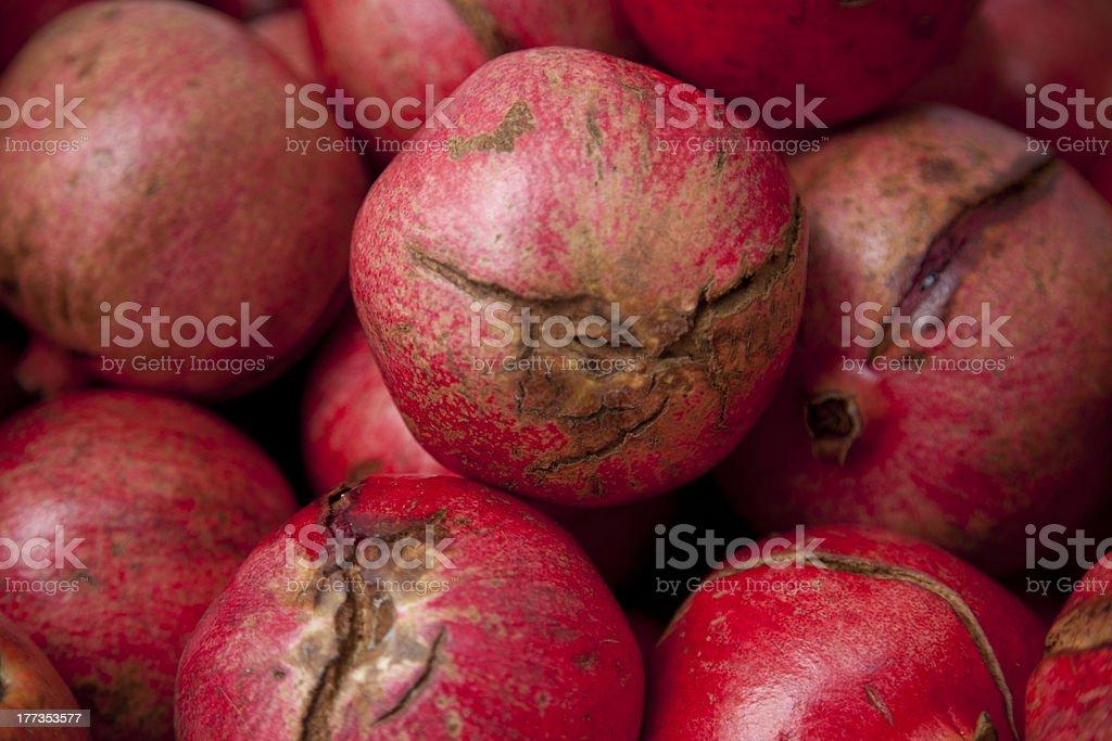 Pomegranates from farmers market at Thanksgiving royalty-free stock photo