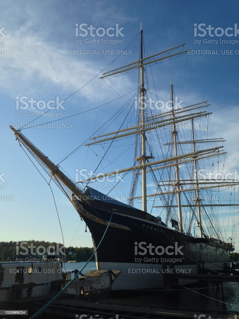 Pommern at her berth stock photo