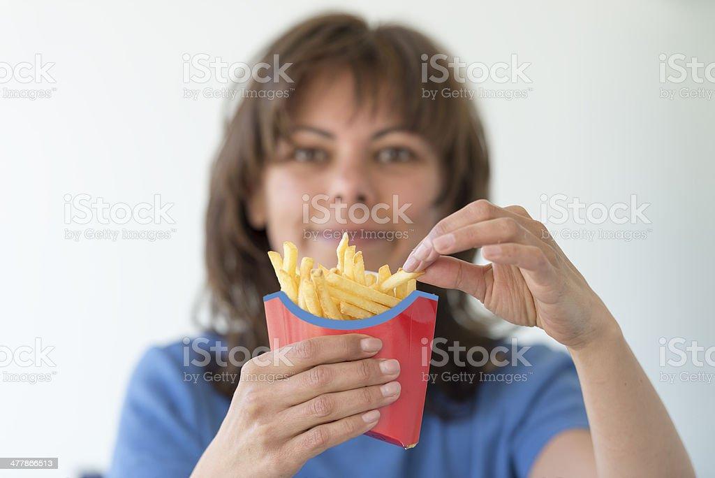 Pommes frites stock photo