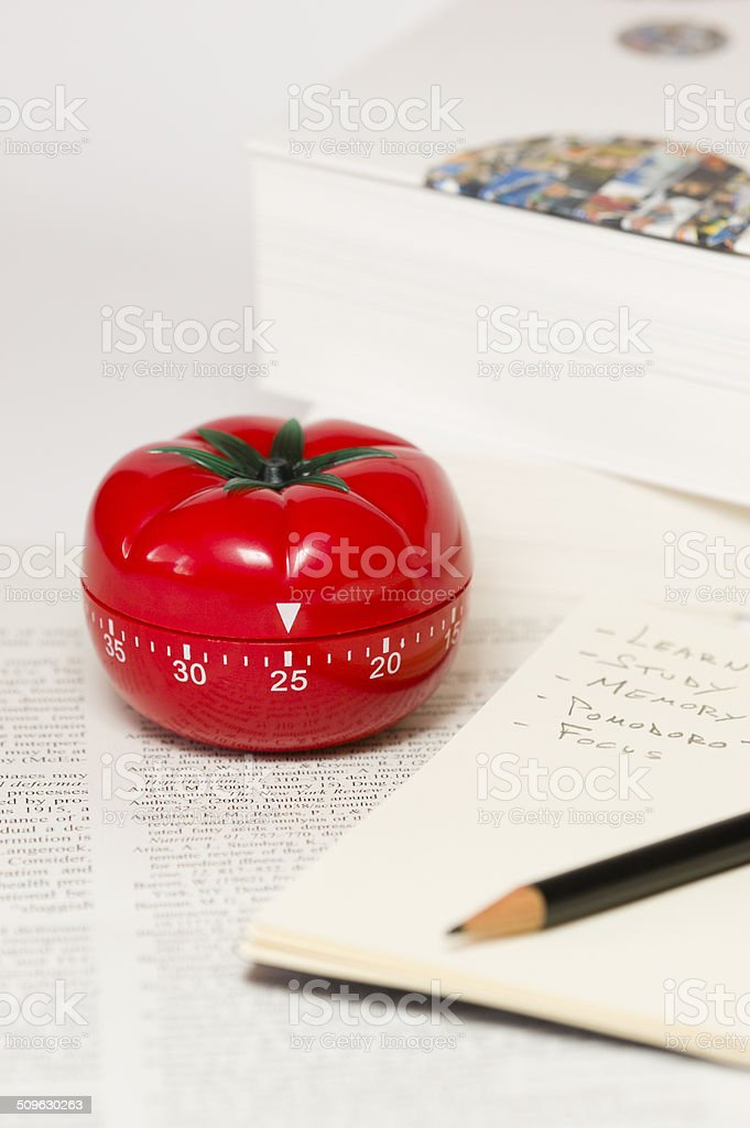 Pomodoro technique stock photo