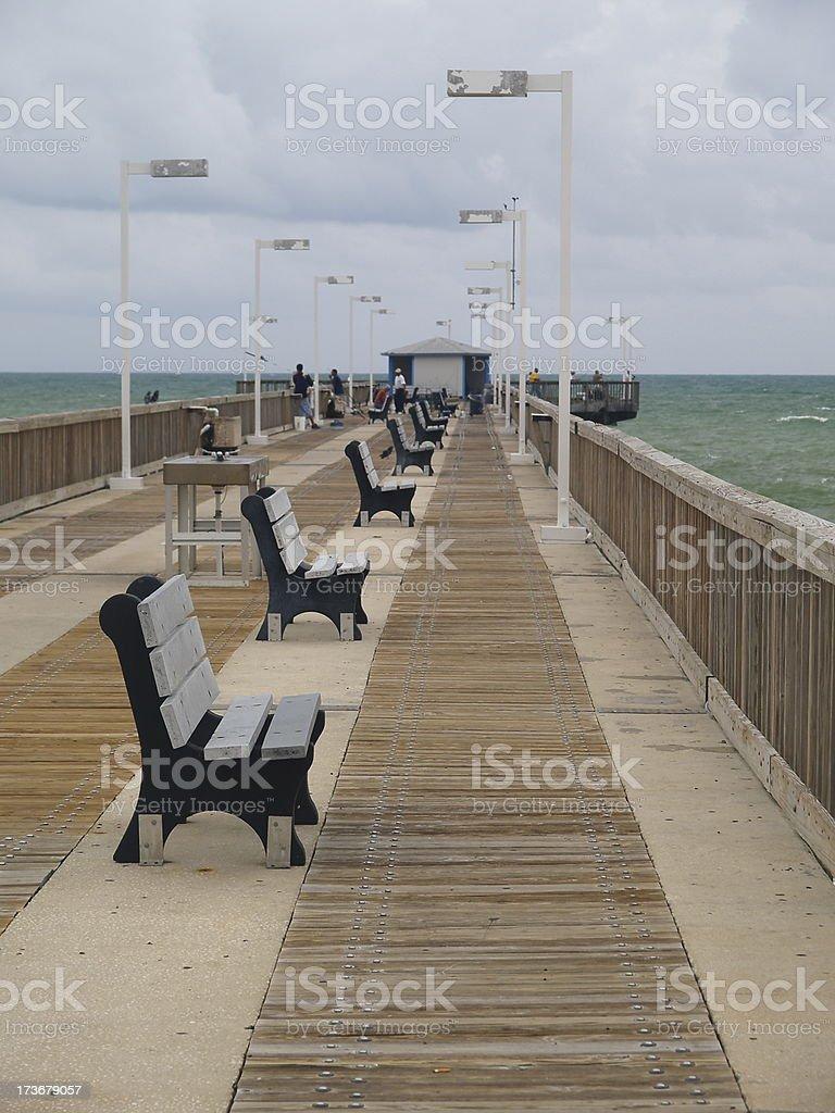 Pompano Beach Fishing Pier Stock Photo