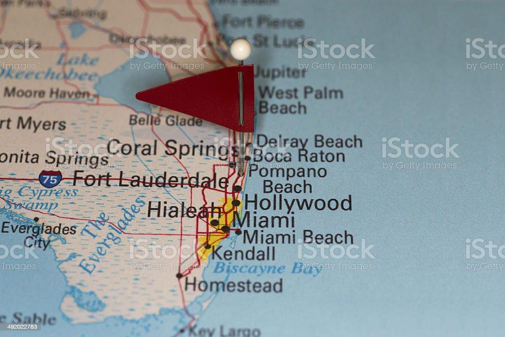 Map Of Pompano Beach Florida.Pompano Beach Fl Usa Cities On Map Series Stock Photo More