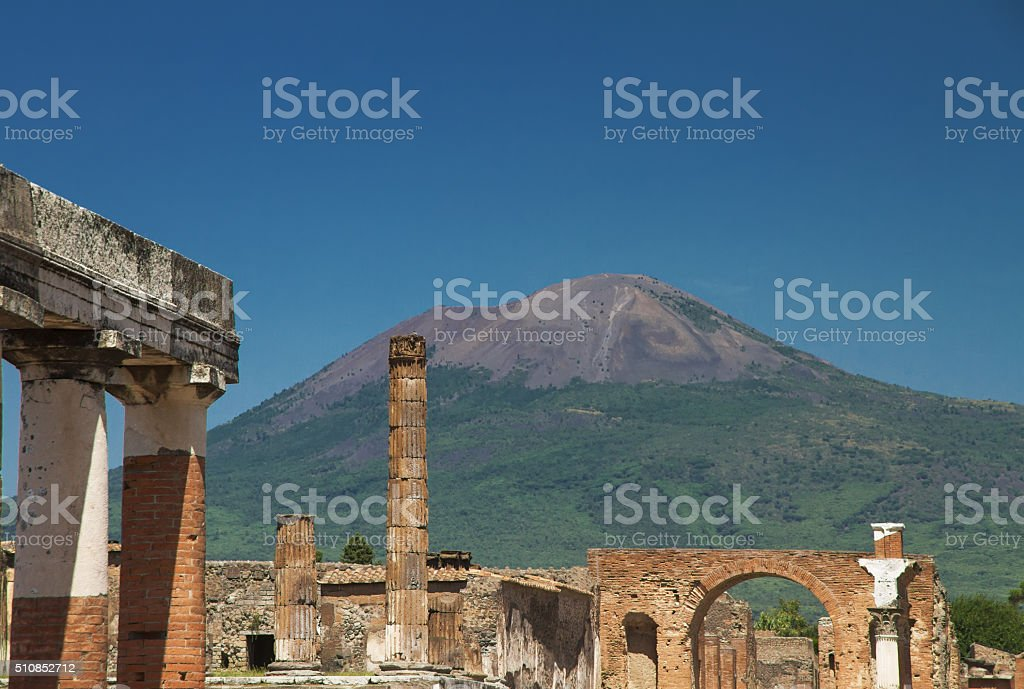 Pompei ruins in Italy stock photo