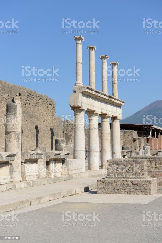 Ruínas de Pompeia - Itália - foto de acervo