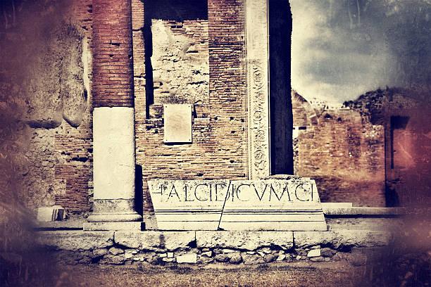 Ruinen von Pompeji, Latin Inschrift – Foto