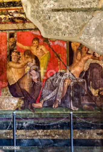 860524946 istock photo Pompeian fresco in ruins 478220503