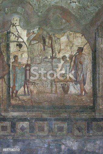 860524946 istock photo Pompeian fresco. Pompeii (Naples - Italy) 497706310