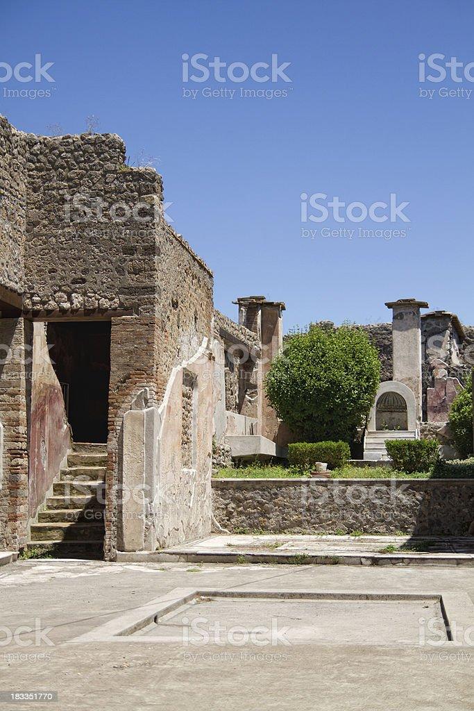 Pompeian house stock photo