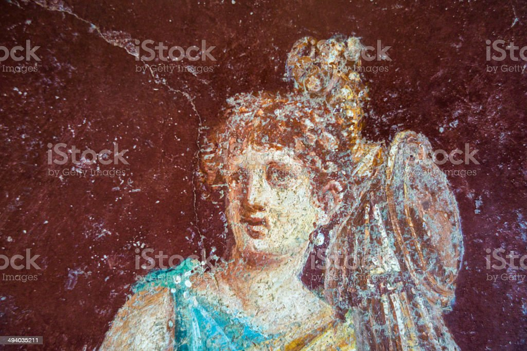 Pompeian paint stock photo