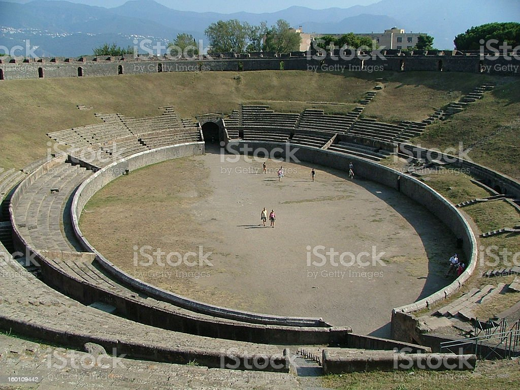 Pompeii amphitheatre stock photo