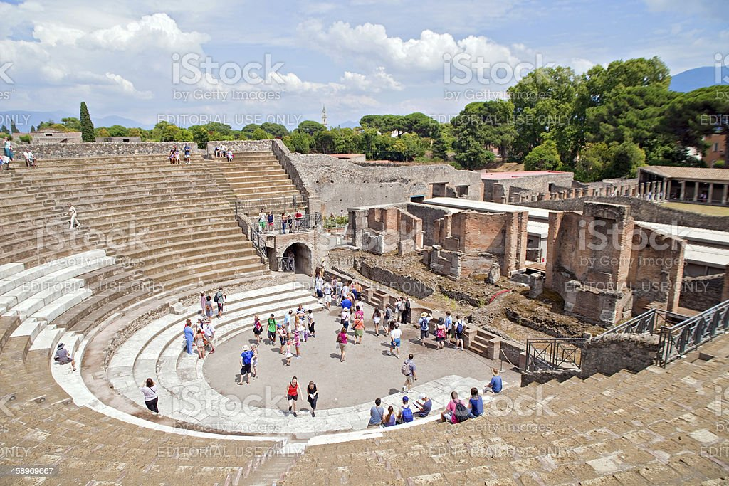Pompeii Amphitheatre stock photo