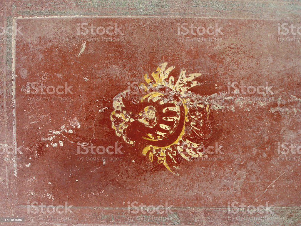 pompeii art stock photo
