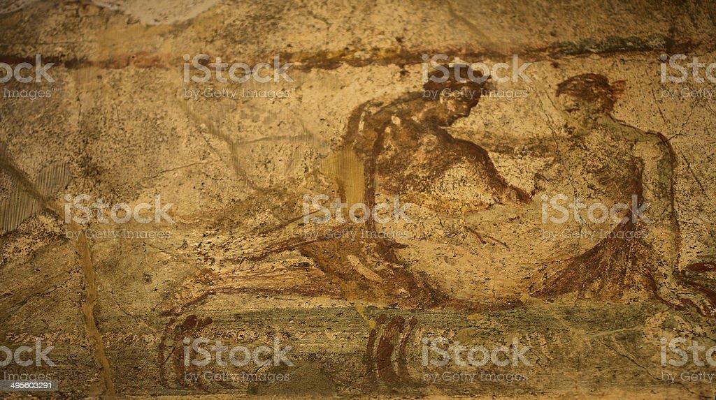 Pompei Bordello sesso Murale - foto stock