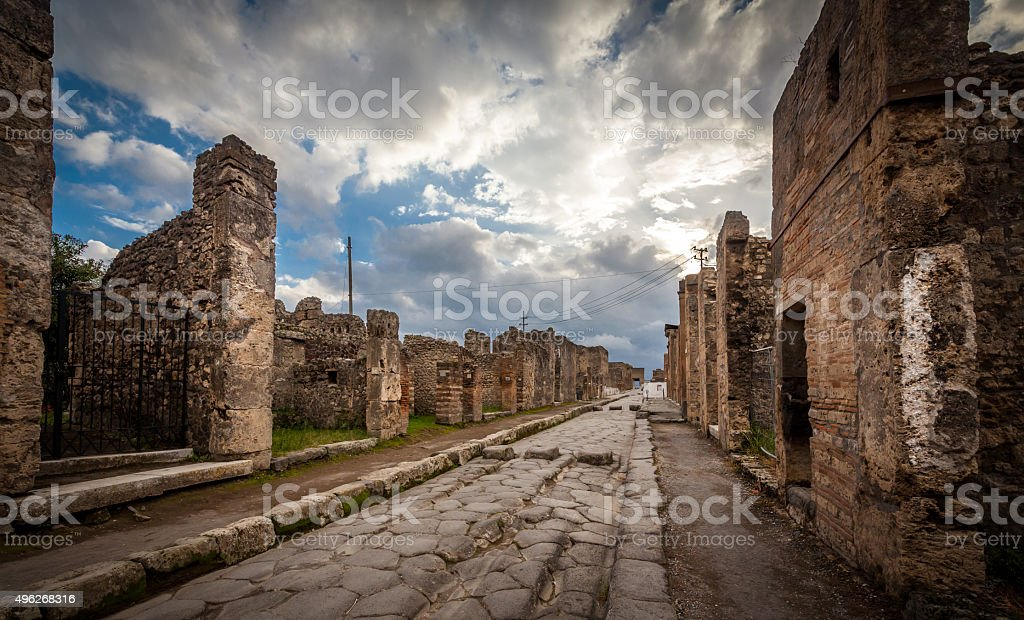 Pompeii city,Italy stock photo