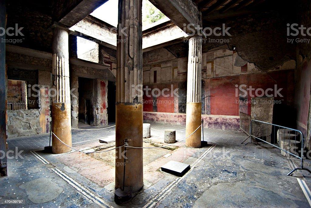 Pompeii House atrium stock photo
