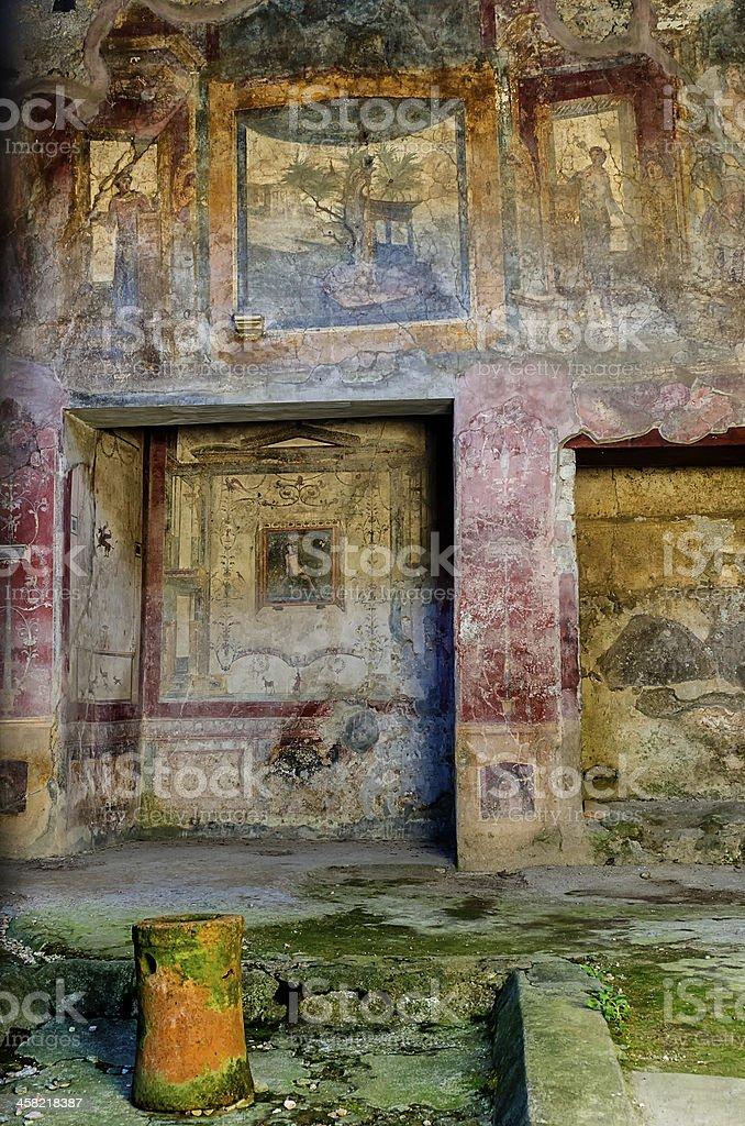 Pompeii house stock photo