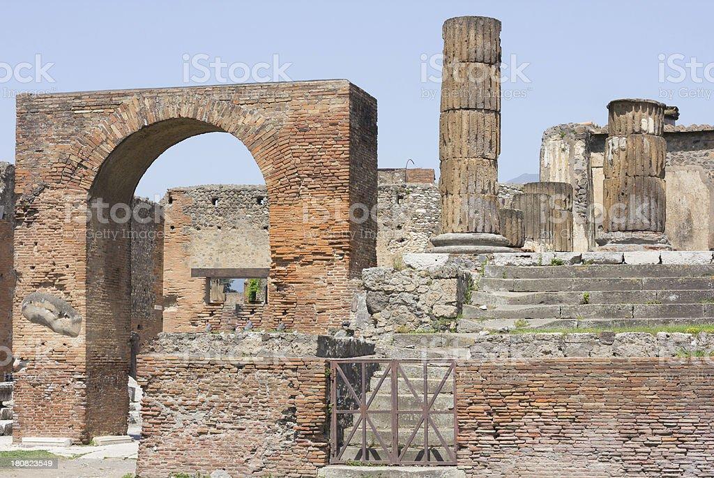 Pompeii in Naples, Italy royalty-free stock photo