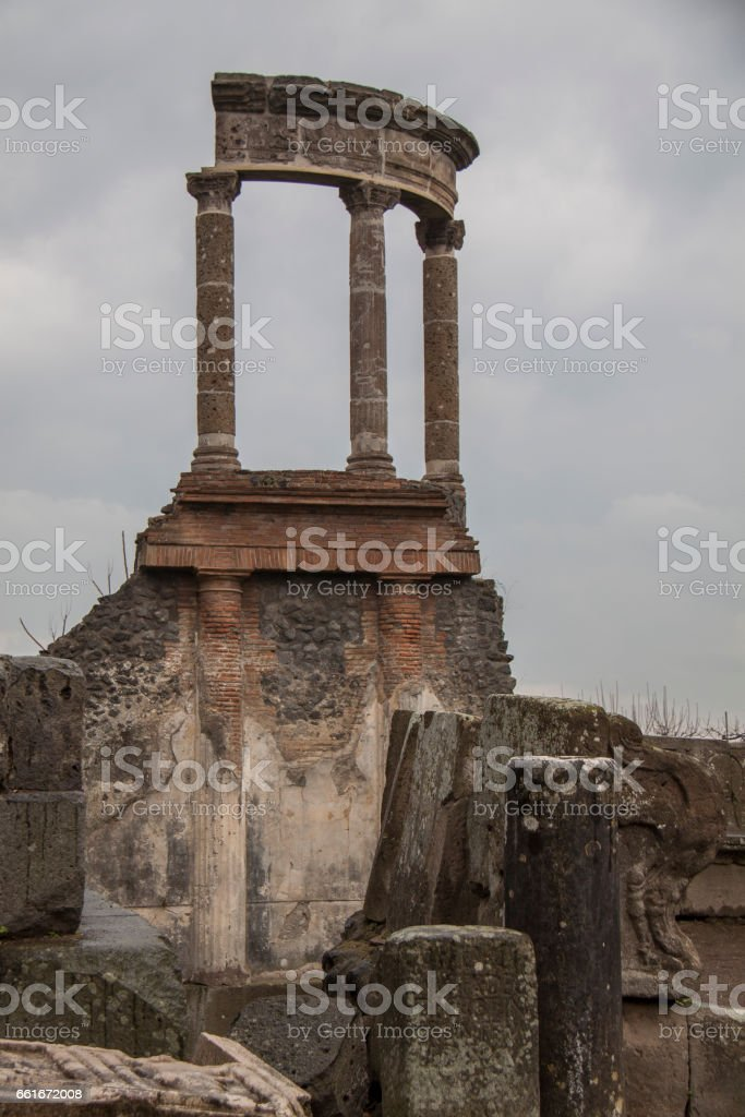 Pompeii in winter, Italy stock photo