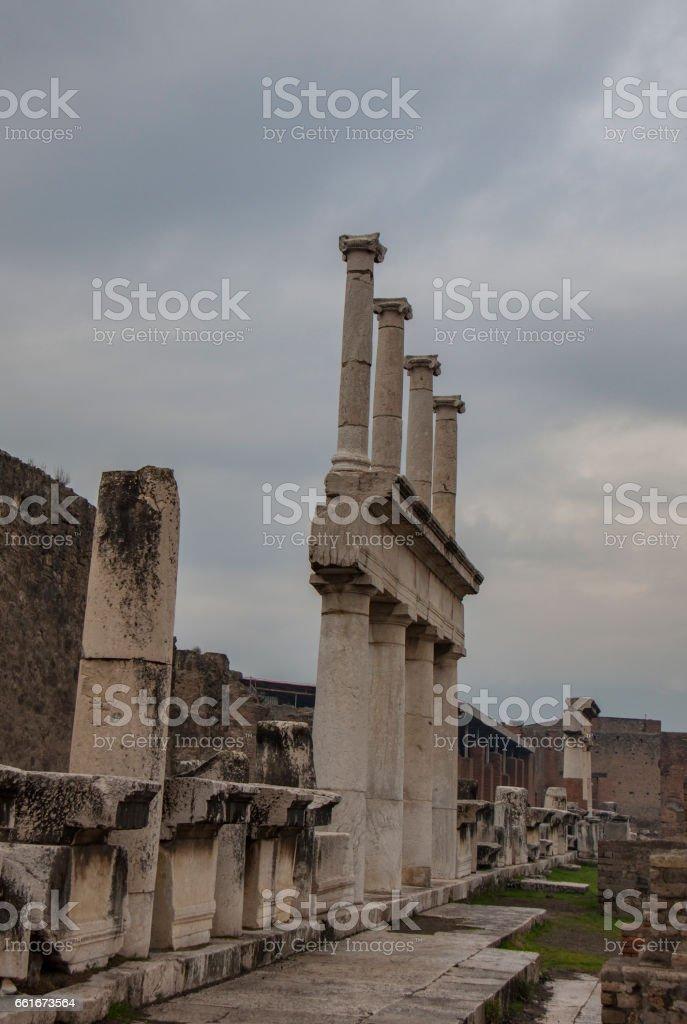Pompeii in winter, Naples stock photo