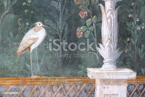 Pompeii, Italy: fresco paintings on ancient Roman walls