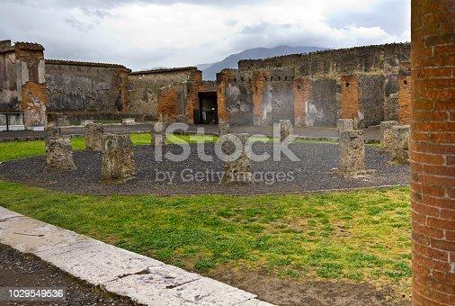 Pompeii, Italy-views of the city in rainy day