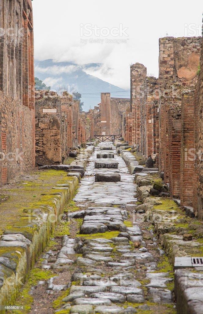 Pompeii on a rainy day stock photo