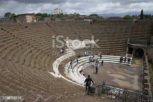 Pompeii, Italy - May, 14: The ruins of the roman city of Pompeii are located near Naples, Italy.