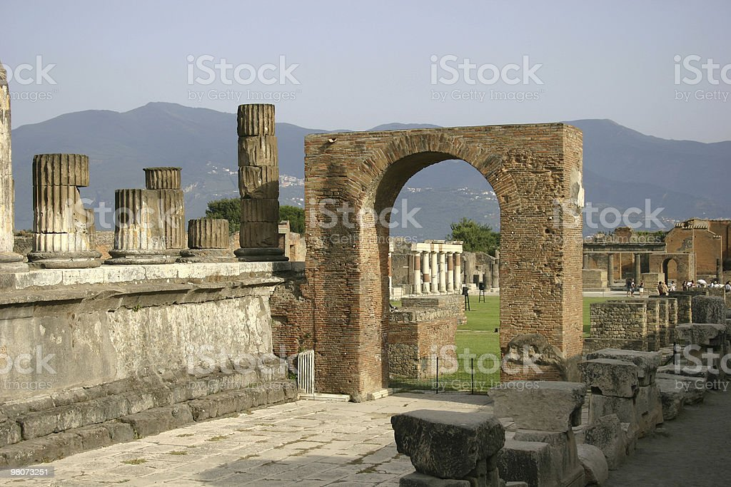Pompeii royalty-free stock photo