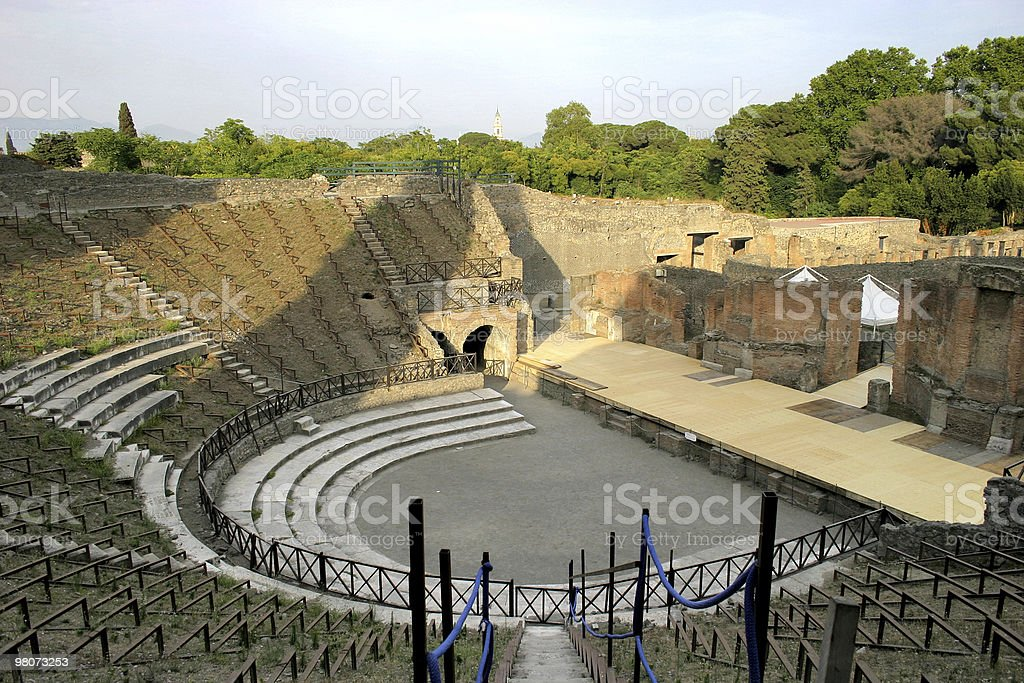Pompei foto stock royalty-free