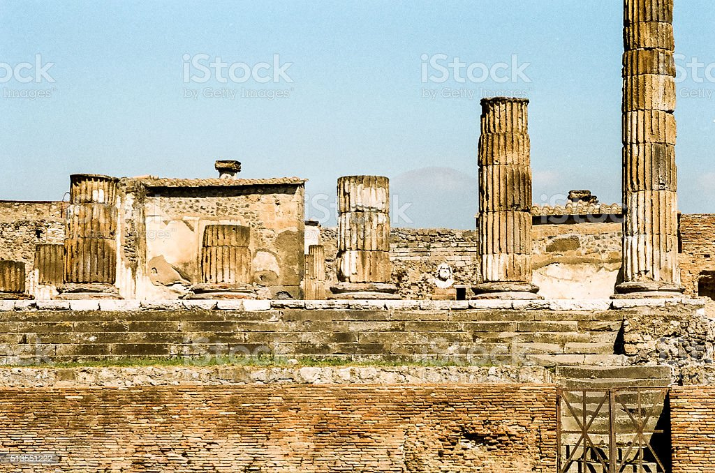 Pompeii ruins, Italy stock photo