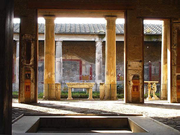 Rovine di Pompei - foto stock