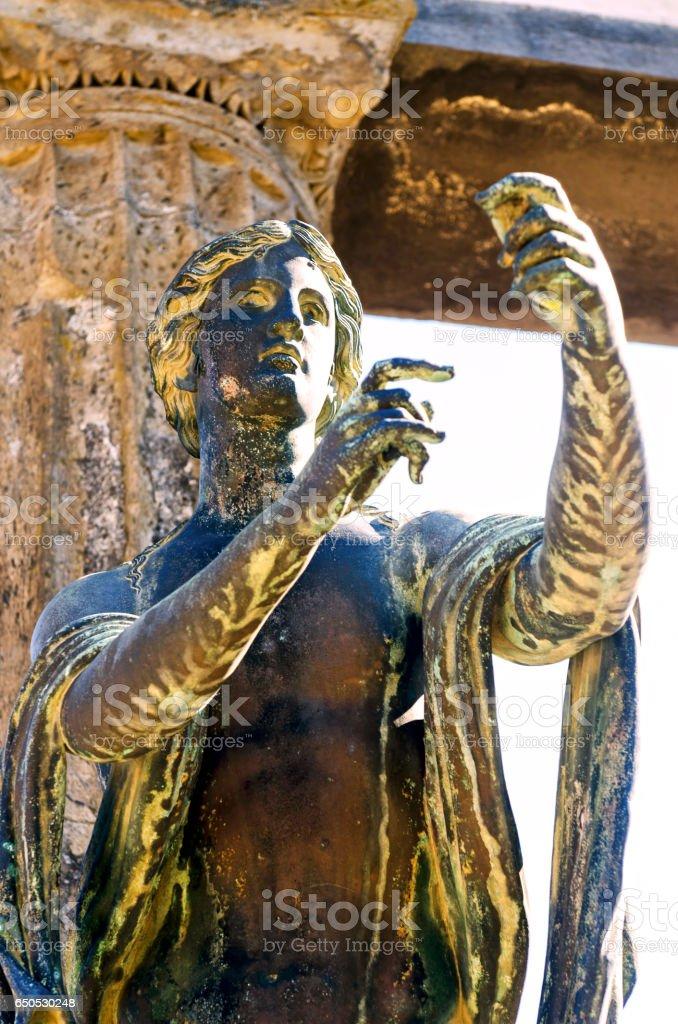 Pompeii statue of Apollo stock photo