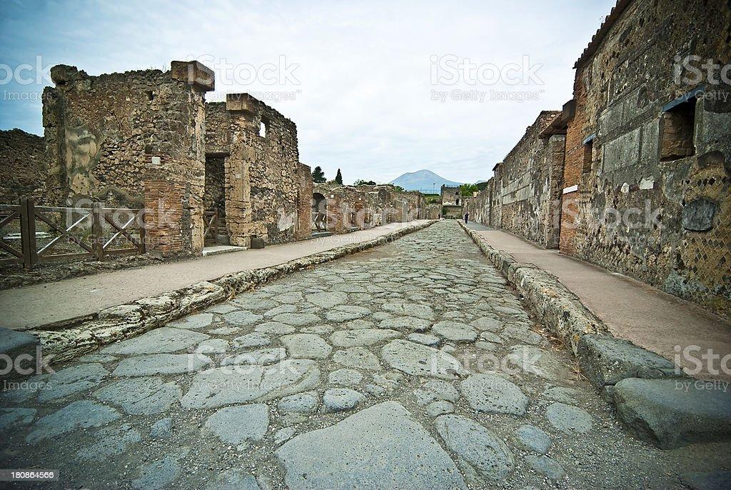 Pompeii Street royalty-free stock photo