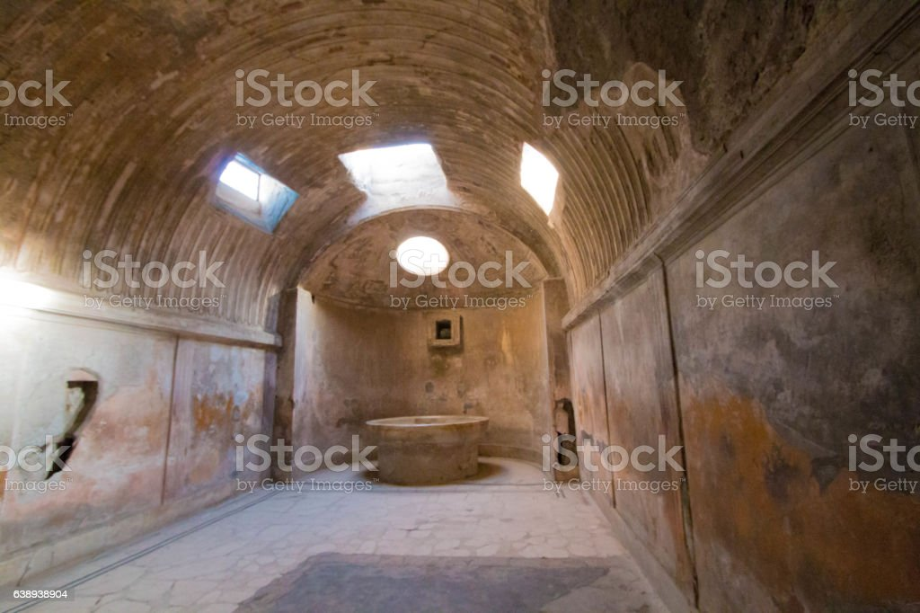 Pompei thermae stock photo