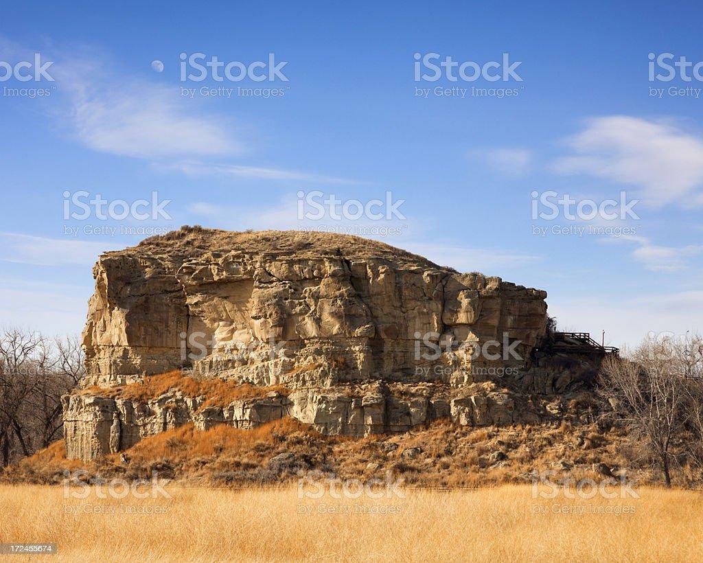 Pompeys Pillar National Monument royalty-free stock photo