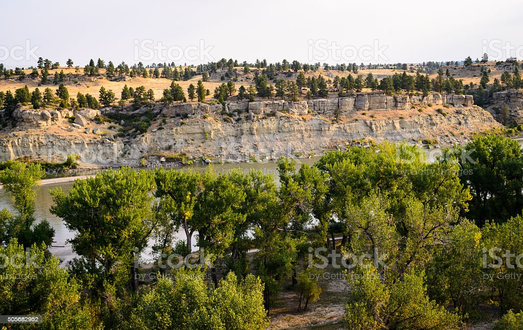Pompeys Pillar National Monument stock photo