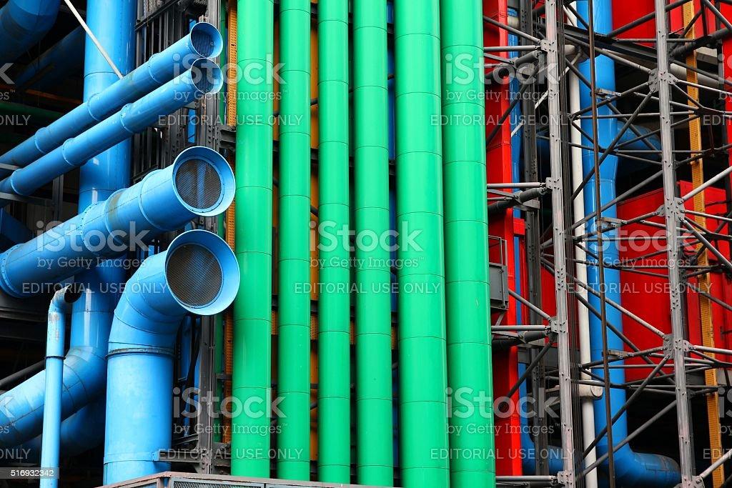 Pompidou Paris stock photo