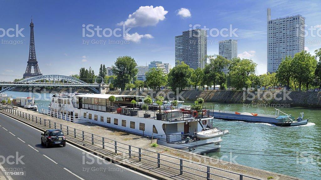 Pompidou Quay. stock photo