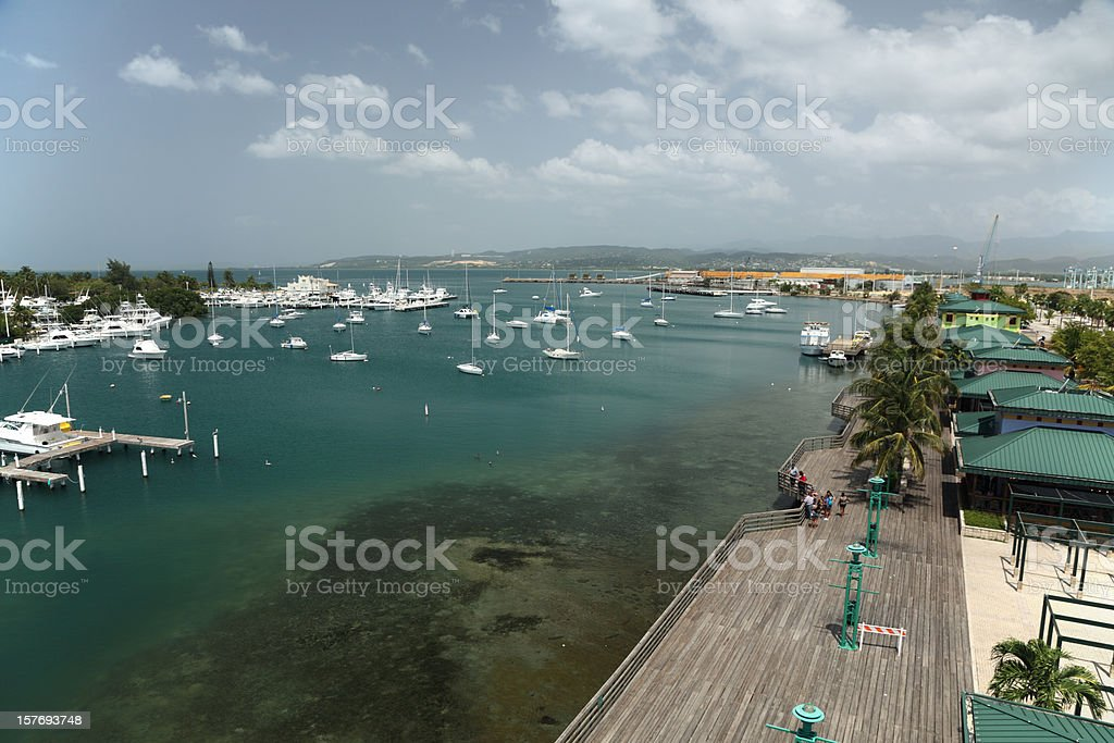 Ponce Boardwalk stock photo