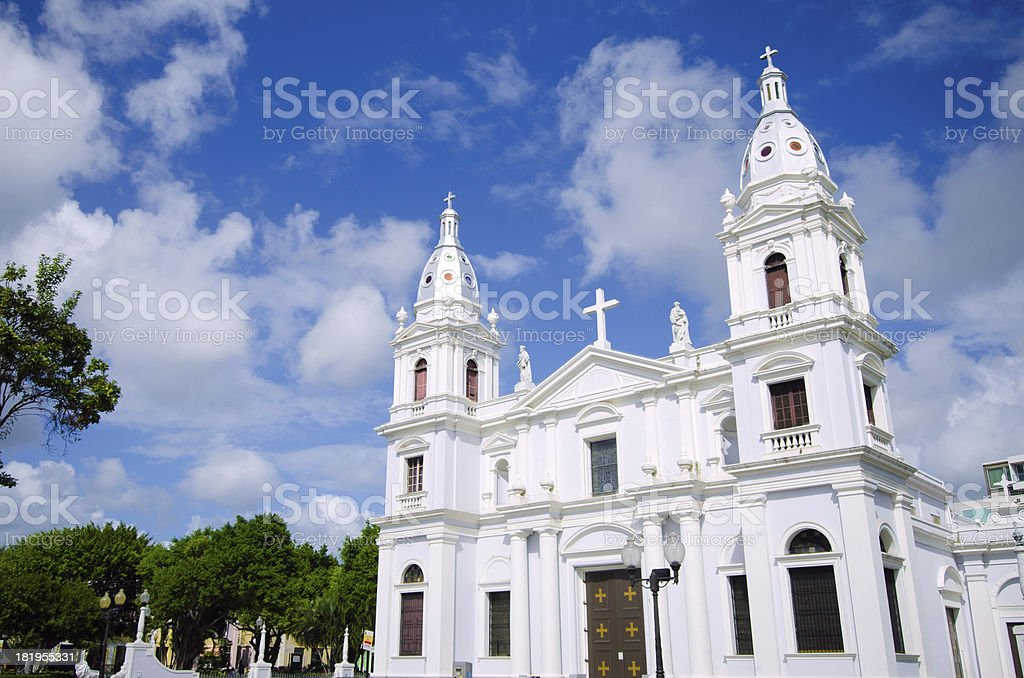 Ponce Cathedral in Puerto Rico stock photo