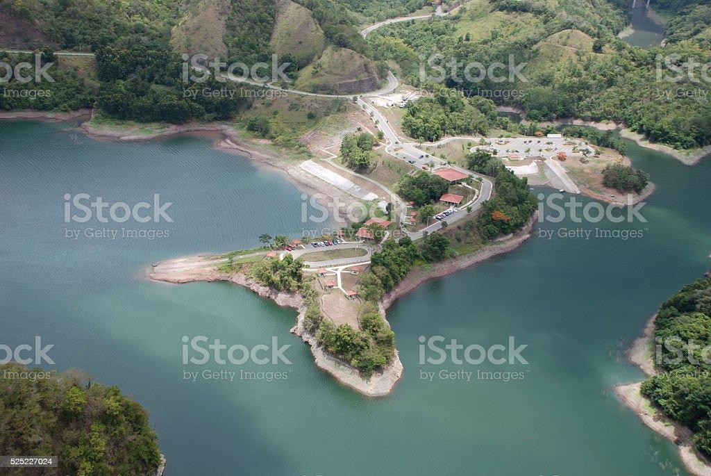 Ponce, Puerto Rico Lago Cerrillo, Lake Cerrillo stock photo